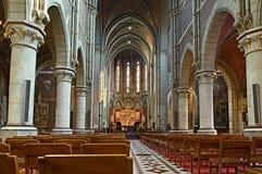Interior of neogothic parish Saint Joseph's church Royalty Free Stock Image