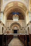 Interior of synagogue Royalty Free Stock Image