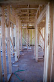 Interior of New Apartment Building under Construction. New Apartment Building under Construction Stock Photography