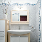 Interior of a new bathroom stock photo