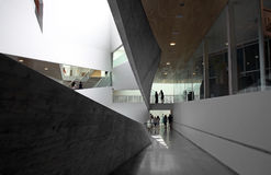 Interior of new building of the Art Museum of Tel Aviv Royalty Free Stock Photos