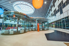 Interior of the new building in Skolkovo Technopark. Royalty Free Stock Images