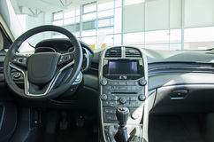 Interior of new car. Royalty Free Stock Images