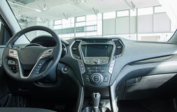 Interior of new car. Stock Photos