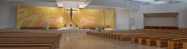 Interior of the new church. In Fatima Sancturay Royalty Free Stock Image