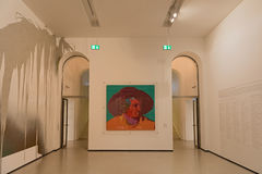 Interior of new contemporary art museum at Staedel museum in Frankfurt Germany royalty free stock photos