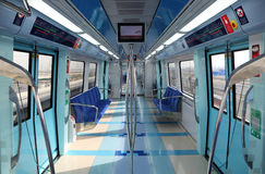Interior of the new Dubai Metro Stock Photography
