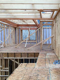 Interior of a new house construction in community Royalty Free Stock Image