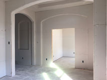 Interior of a new house under construction Stock Images