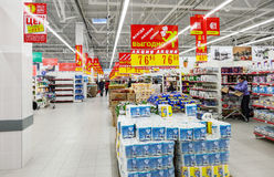 Interior of the new hypermarket Magnet Royalty Free Stock Images
