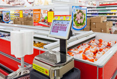 Interior of the new hypermarket Magnet Stock Photos