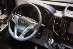 Interior of the new Hyundai H350 Van Royalty Free Stock Photos