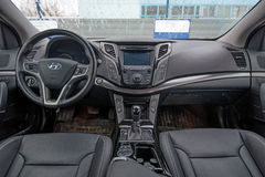 Interior of new Hyundai i40 Royalty Free Stock Images