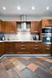 Interior of a new kitchen Royalty Free Stock Images