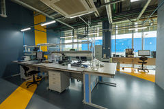 Interior a new laboratory for the study of shale oil fields Royalty Free Stock Photos