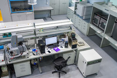 Interior a new laboratory for the study of shale oil fields Stock Photography