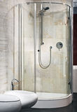 Interior of new luxury bathroom with shower Stock Images