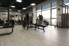 Interior Of New Modern Gym With Equipment Royalty Free Stock Image