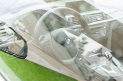 Interior of new modern model BMW car Stock Image
