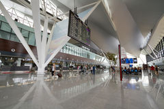 Interior of new modern terminal at Lech Walesa Air Royalty Free Stock Photo