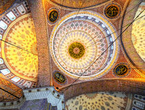 Interior of the New Mosque in Istanbul Stock Images