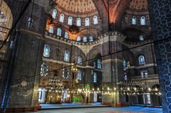 Interior of the New Mosque (Yeni Camii) in Istanbul royalty free stock photo