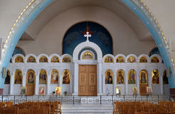 Interior of the new Orthodox Cathedral of the Resurrection of Christ in Tirana Royalty Free Stock Photography