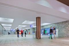 Interior new railway station Breda, Netherlands Royalty Free Stock Photos