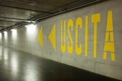 Interior new underground, exit Stock Image