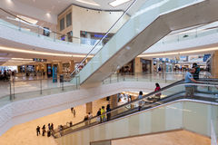 Interior of the new Yas Mall in Abu Dhabi Royalty Free Stock Images