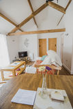 Interior. Of newly refurbished english country cottage royalty free stock photography