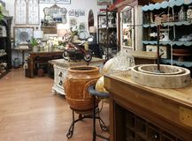 Interior of a nice antique store TX USA stock image