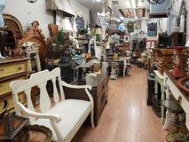 Interior of a nice antique store TX USA stock photo