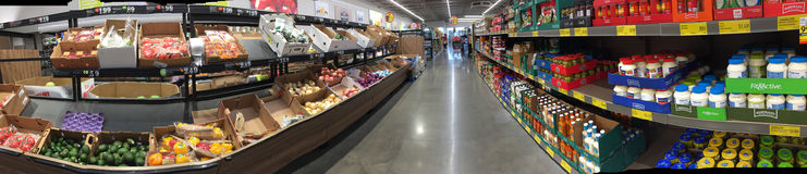 Interior of nice food market ALDI in TX USA. Interior of food market ALDI in TX USA, panoramas picture stock images