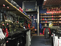 Interior of a nice sports goods store Stock Image