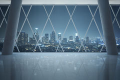 Interior with night city view Royalty Free Stock Photography