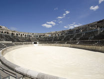 Interior of Nimes Arena in Southern France Stock Image