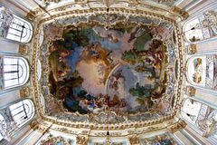 Interior no castelo do nymphenburg, Imagens de Stock Royalty Free