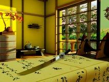 Interior no estilete japonês Imagens de Stock