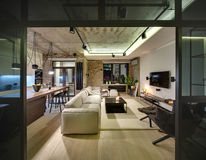 Interior no estilo do sótão fotografia de stock royalty free
