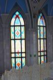 Interior no Kremlin de Kazan, Rússia da mesquita de Kul Sharif imagem de stock royalty free