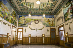 Interior of  the North train station in  Valencia, Spain Royalty Free Stock Photos