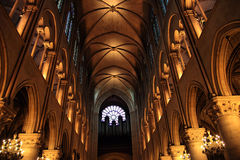 Interior of Notre Dame Royalty Free Stock Image