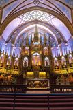 Interior of the Notre-Dame Basilica in Montreal Stock Photo
