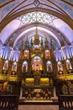 Interior of the Notre-Dame Basilica in Montreal Stock Image