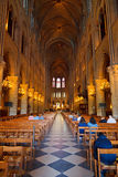 Interior of Notre Dame cathedral Stock Photo