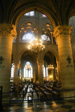 Interior of Notre-Dame Cathedral Stock Photography