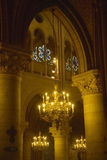 Interior of the Notre Dame Cathedral, Paris, France Stock Photo