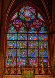 The interior of Notre-Dame Cathedral in Paris Royalty Free Stock Photo