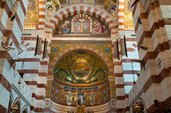 Interior of Notre-Dame de la Garde Royalty Free Stock Images
